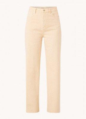 Scotch en Soda Scotch & Soda High waist wide fit jeans met gerafelde zoom
