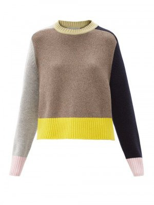 Matchesfashion Extreme Cashmere - Colour-block Stretch-cashmere Sweater - Womens - Multi