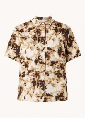 Samsøe en Samsøe Samsøe & Samsøe Mina blouse in biologische katoenblend met print