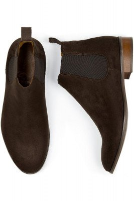 Will's Vegan Store Will's Vegan Store unisex vegan Chelsea Boots Donkerbruin Suede Donkerbruin 47 Gerecycled rubber/Microfibre (micronappa, microsuède)/PU