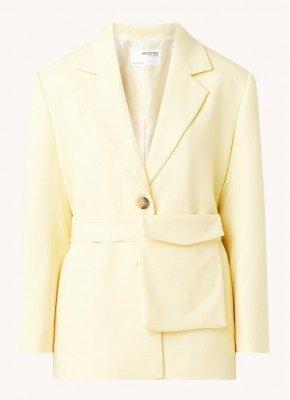 Selected Femme Selected Femme Malli blazer met strikceintuur en structuur