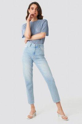 NA-KD NA-KD Ankle Mom Jeans - Blue