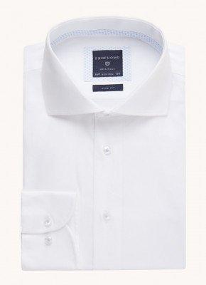 Profuomo Profuomo Slim fit strijkvrij overhemd met extra lange mouw