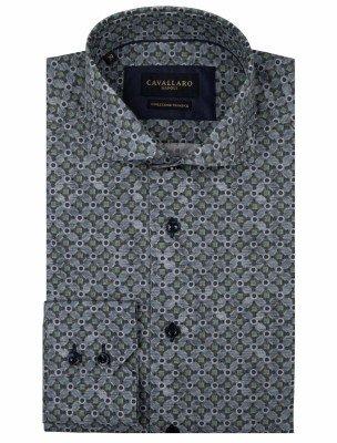 Cavallaro Napoli Cavallaro Napoli Heren Overhemd - Renzo Overhemd - Blauw