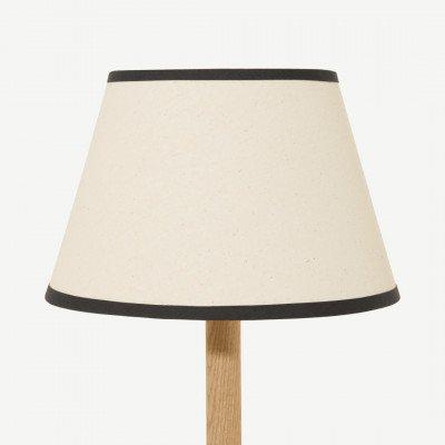 MADE.COM Larue tapstoelopende lampenkap, 25 cm, roomwit en houtskoolgrijs