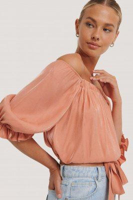Rut&Circle Off-Shoulder Blouse - Orange