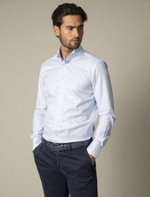 Cavallaro Napoli Cavallaro Napoli Heren Overhemd - NOS Light Blue Overhemd - Blauw
