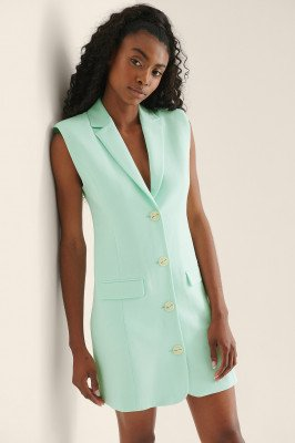 NA-KD Classic NA-KD Classic Tailored Vest Dress - Turquoise