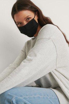 NA-KD Accessories NA-KD Accessories 2-Pack Solid Flat Masks - Black