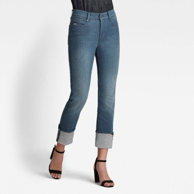 G-Star RAW Noxer Straight Jeans - Donkerblauw - Dames