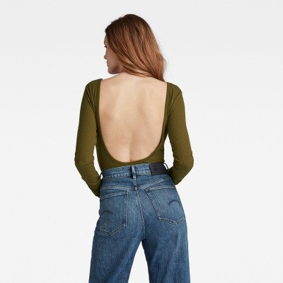 G-Star RAW Low Back Bodytop - Groen - Dames
