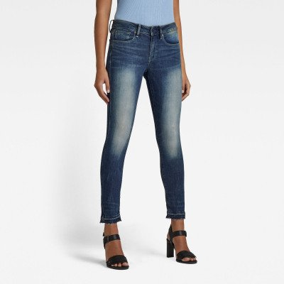 G-Star RAW 3301 Mid Skinny Ankle Jeans - Midden blauw - Dames