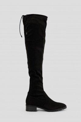 NA-KD Shoes NA-KD Shoes Basic Over-De-Knie Laarzen Met Profielzool - Black