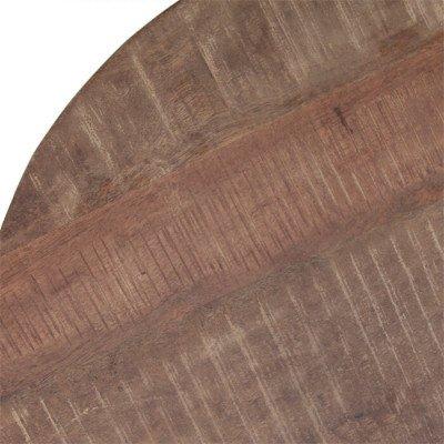 Eleonora Eleonora Bijzettafel Mango met metalen poot 50 x 50cm, kleur zwart