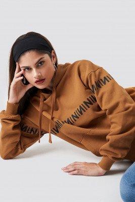 NA-KD Trend NA-KD Trend N Branded Hoodie - Orange