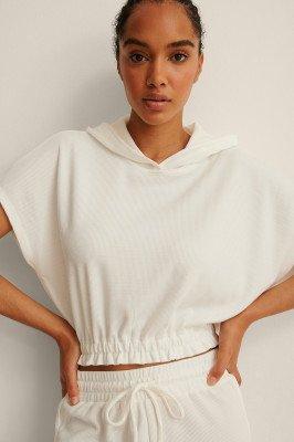 Mango MANGO Getextureerde Sweatshirt - White