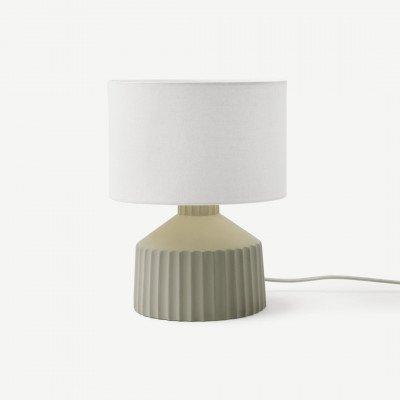 MADE.COM Kae kleine tafellamp, bleekgroen