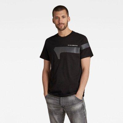 G-Star RAW 1 Reflective Graphic T-Shirt - Zwart - Heren