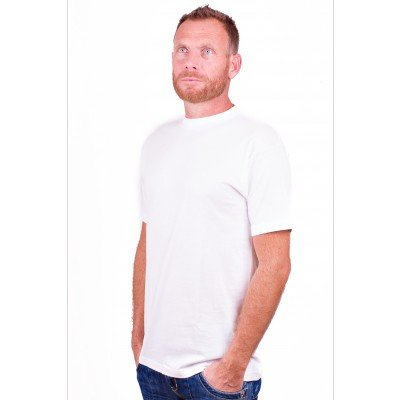 Alan Red T-Shirt Virginia White (extra long) ( Two Pack)