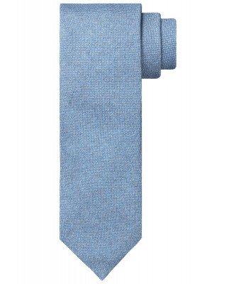 Profuomo Profuomo heren blauwe katoen-blend stropdas