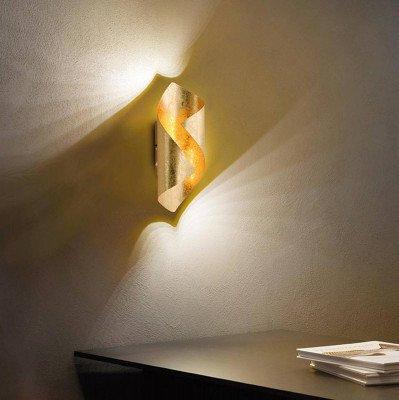 PAUL NEUHAUS Gedraaide LED wandlamp Nevis uit metaal