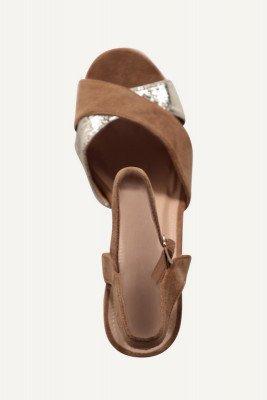 Shoecolate Shoecolate Sandaal hak Zand 1.10.01.008