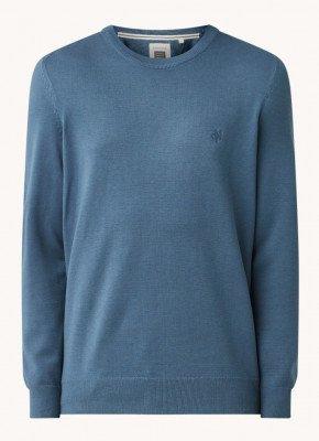 Marc O'Polo Marc O'Polo Fijngebreide pullover met logo