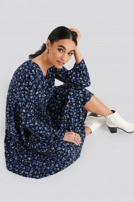 Trendyol Trendyol Patterned Maxi Dress - Blue