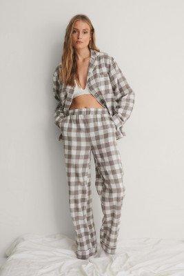 NA-KD Lingerie NA-KD Lingerie Flannel Pyjamas Pants - Grey