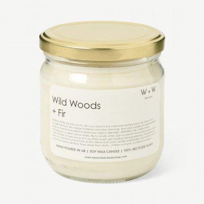 MADE.COM Wax + Wick wild bos en vijgen kaars