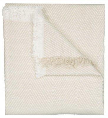 HEMA HEMA Plaid 130x150 Zigzag Crème/wit