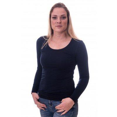 Claesens Claesens Women T-shirt o-neck longsleeve Navy Blue (8016)