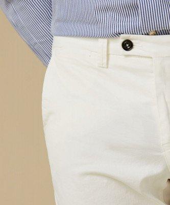 Profuomo Profuomo heren off white garment dye chino