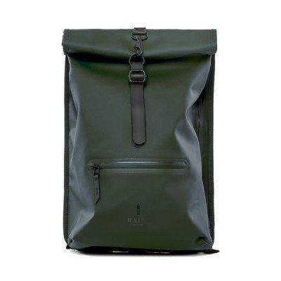 Rains Rains Roll Top Backpack Green