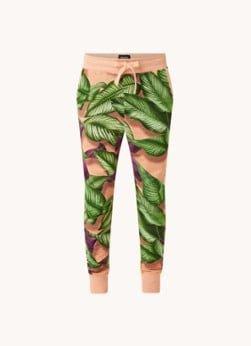 Snurk Snurk Fresh Leaves pyjamabroek van biologisch katoen met bladprint