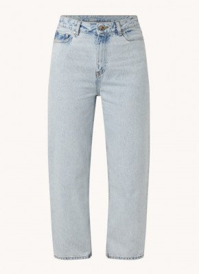 Ganni Ganni High waist straight fit cropped jeans