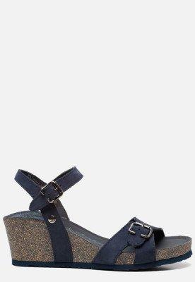 Panama Jack Panama Jack Valentine Basics B3 sandalen met sleehak blauw