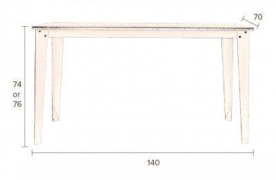 Dutchbone Dutchbone Eettafel 'Scuola' 140 x 70cm