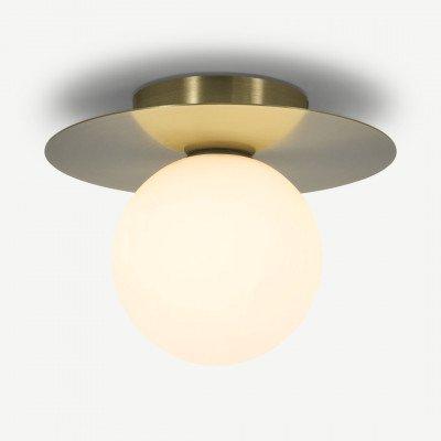 MADE.COM Miwa badkamer inbouwplafondlamp, antiek messing en wit