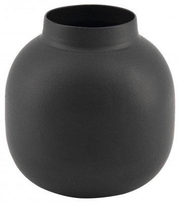 HEMA HEMA Vaas Ø6,5x7 - Metaal Zwart (zwart)