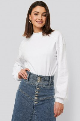NA-KD Sweatshirt Body - White