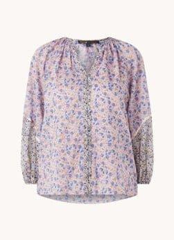 Maje Maje Cisso blouse met bloemenprint en V-hals