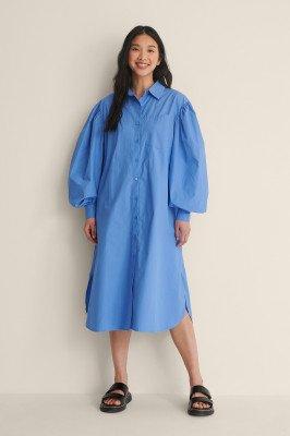 NA-KD Classic NA-KD Classic Organisch Oversized Shirtjurk - Blue