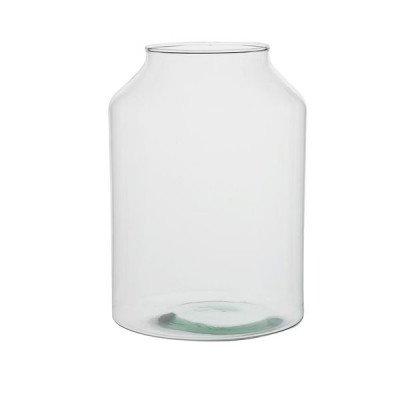 DilleenKamille Vaas, recycled glas, hoog