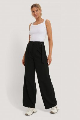 NA-KD Classic NA-KD Classic D-ring Belted Suit Pants - Black