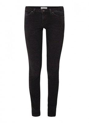 Selected Femme Selected Femme Selected Femme Fida mid waist skinny fit jeans van biologisch katoen