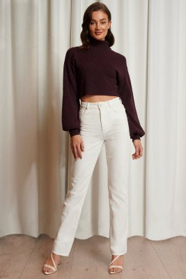 Emma Ellingsen x NA-KD Emma Ellingsen x NA-KD Rechte Jeans - White