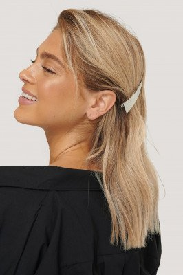 NA-KD Accessories 2-Pack Grote Haarclips - Silver