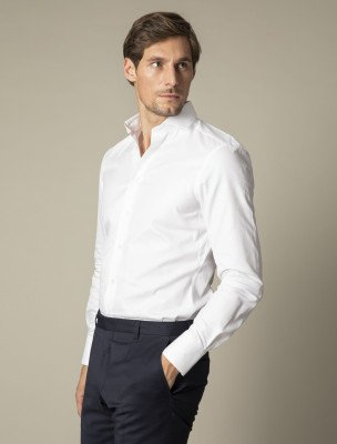 Cavallaro Napoli Cavallaro Napoli Heren Overhemd - Nosto Bianco Overhemd - Wit