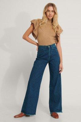 Trendyol Trendyol Jeans Met Hoge Taille En Wijde Pijpen - Blue